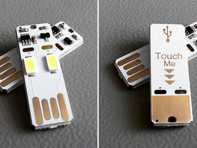 Vrid någon USB-port i en ficklampa, komplett med svepreglage