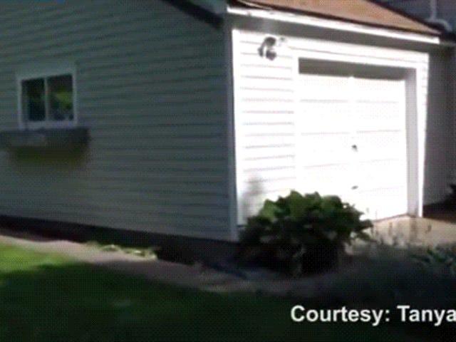 90 Year-Old Man Realizes Glorious Dream Of Backing Through Garage Door
