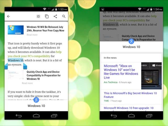 Chrome para Android puede buscar instantáneamente cualquier texto que resalte en Google