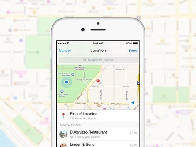 Facebook Messenger теперь делится вашим местоположением только когда вы спрашиваете его