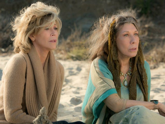 Lily Tomlin & Jane Fonda Were Joking About Their Grace and Frankie Pay