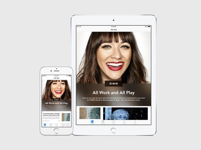 Ang Apple News, ang isang Flipboard para sa iyong mga kaibigan at mga kaibigan