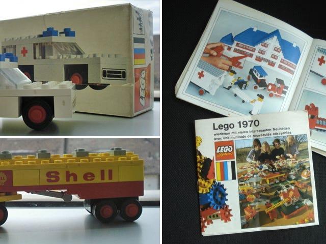 Lucky guy finder en skattekiste af klassiske 70'ere Lego i en kasseret taske