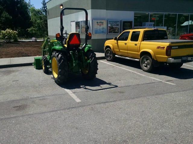 Asshat parking, antas ng John Deere