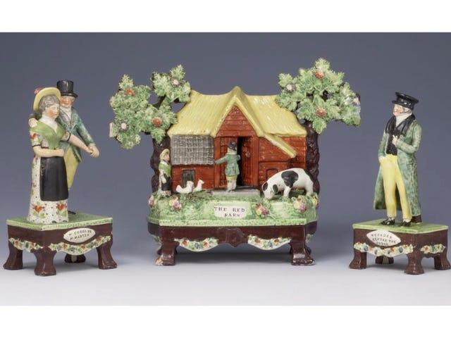 A Charming Vintage Figurine Set That Memorializes A Famous Murder