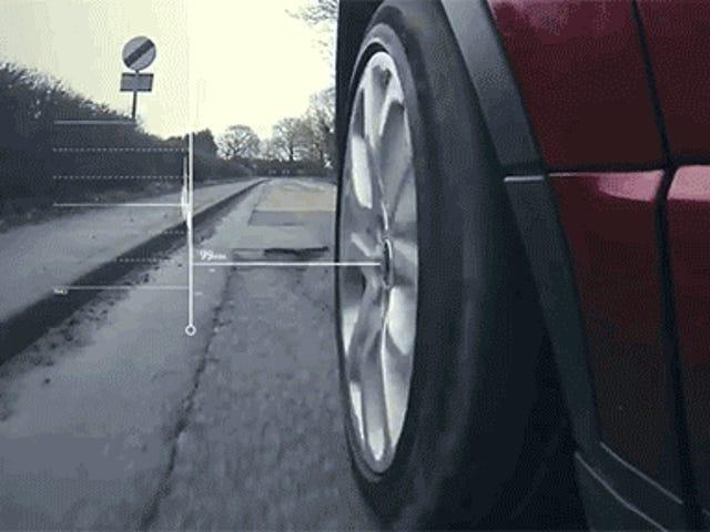 Deze nieuwe Jaguar Land Rover Tech vindt kuilen en waarschuwt andere auto's