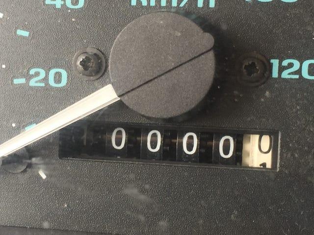 Jag rullade bara över till 110.000 mil
