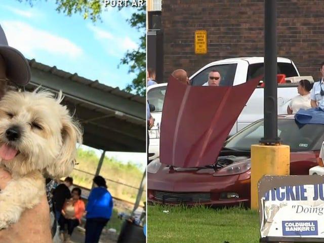 El hombre de Texas y su perro mueren después de quedar atrapados en un Corvette