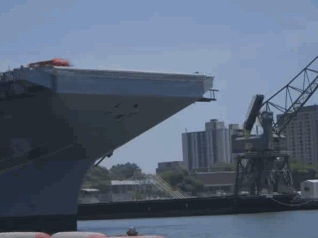 Watch The Navy's Railgun Catapult A 4-Ton Sled Off An Aircraft Carrier