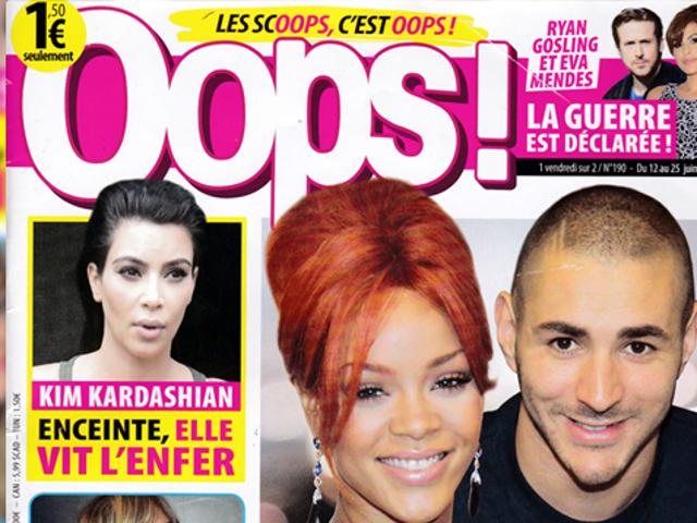 Questa settimana in francese <i></i>  Tabloids: Rihanna è &#39;Craqué&#39; per Benzema!