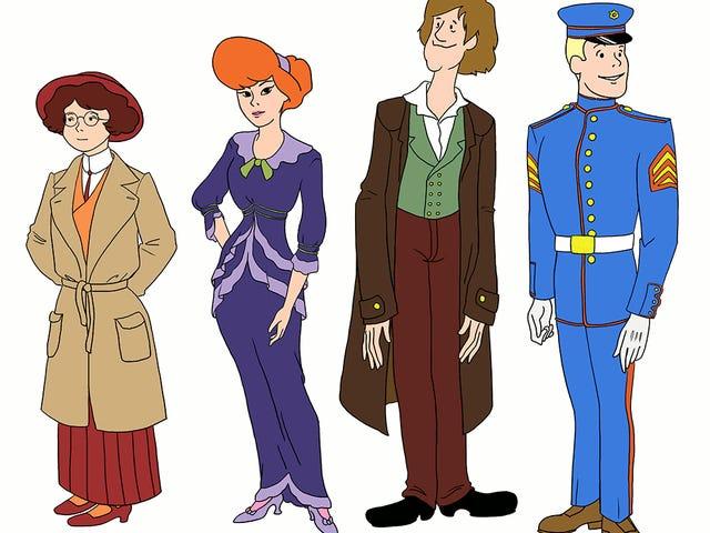 Veja como a tripulação do Scooby Doo teria se vestido no século 20