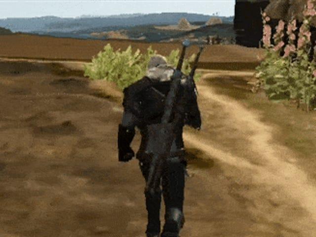 Süper-Düşük Spesifikasyonlarda <i>Witcher 3</i> PS2 Oyununa Dikkat Ediyor