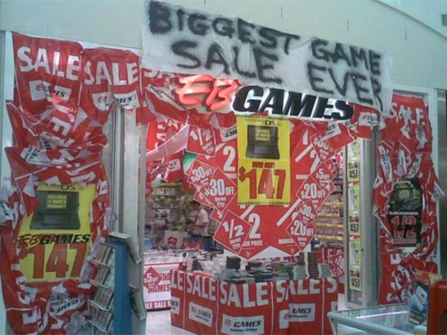 Υπάρχει μια πώληση στα βιντεοπαιχνίδια, προφανώς