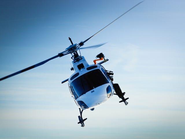 Les policiers diffusent accidentellement Chilo Convo sur des pipes de hélicoptère