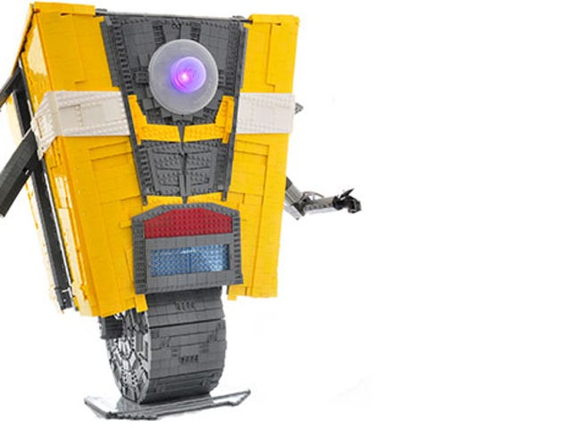 Life-Size LEGO Claptrap Is A Bricky Smartass