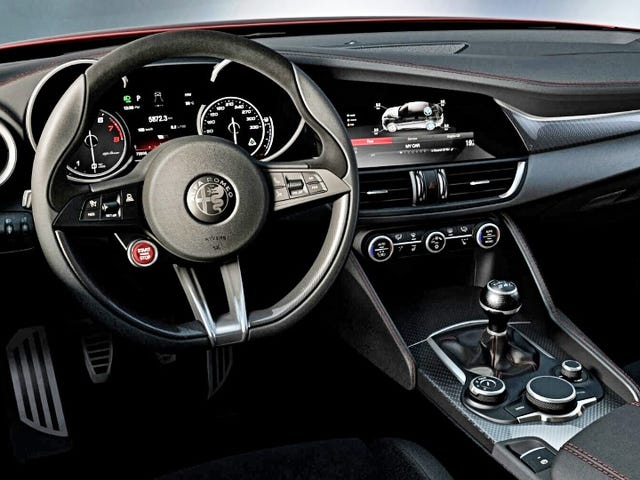 The Alfa Giulia's interior ... it's beautiful!