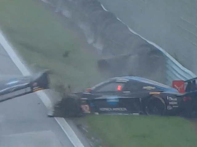 Top Two Cars At Watkins Glen Spin Into Each Other, Tap Leader Into Pits