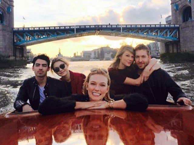 Karlie Kloss var det femte hjul på Taylor Swifts dobbelte dato