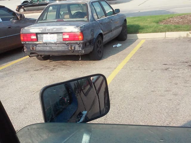 Zero F--ks Given BMW Found In Chicagoland.