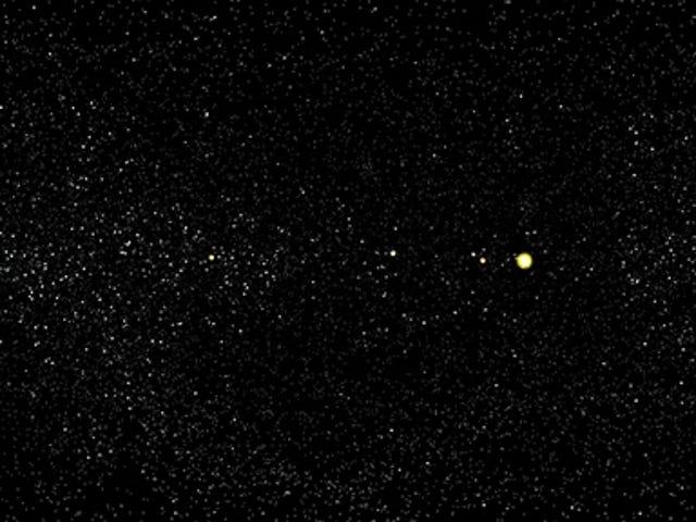 Come sarebbe il cielo se tu potessi vedere tutti gli asteroidi