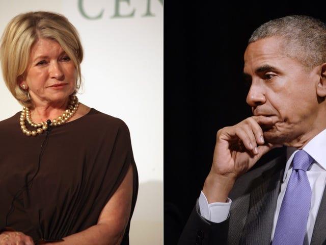 Presiden Obama dan Martha Stewart Tidak Setuju Tentang Peas