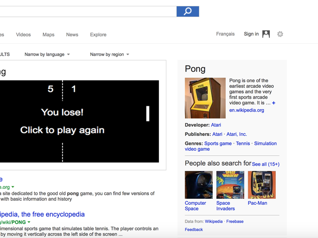 Playing Bing Pong Is the Best Thing You Can Do With Bing