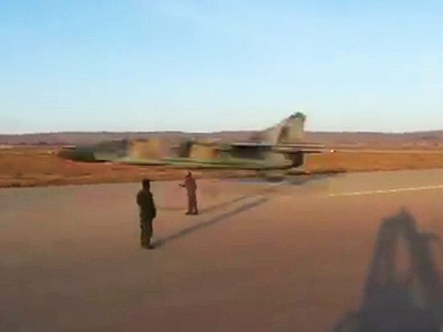 This Is The Lowest, Fastest Flyby Yet By A Crazy Libyan MiG-23 Pilot