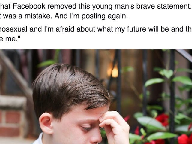 Facebook Removes Humans of New York'sPicture of Gay Teen, Bans Posting