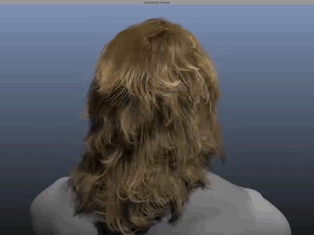 Esta peluca hiperrealista muestra el futuro del pelo en los videojuegos