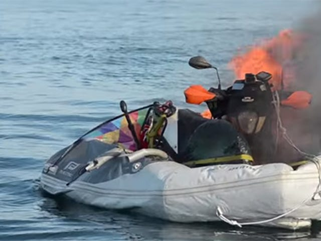 BikeBoat That Catches Fire, Sinks Is Not A Compelling Crowdfunding Pitch