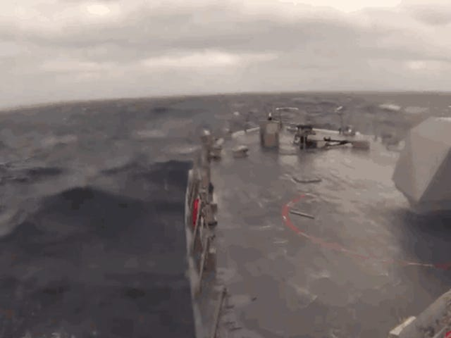 Watch The Navy's Littoral Combat Ship Get Hammered By Heavy Seas