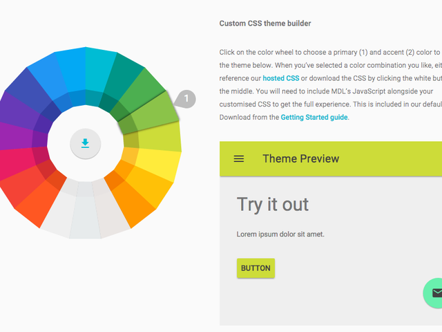 Google просто сделал это супер легким для создания сайта с материальным дизайном