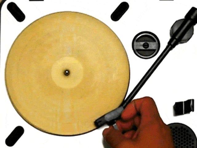 Ang isang laser etched tortilla ay talagang naglalaro ng musika tulad ng isang vinyl record?