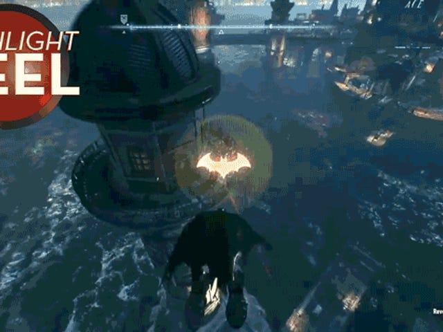 Batman lanza un Henchman en el espacio