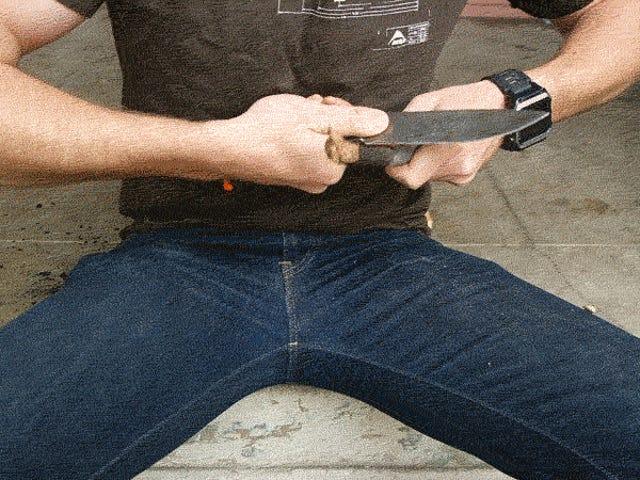 Sådan bruges en kniv udendørs