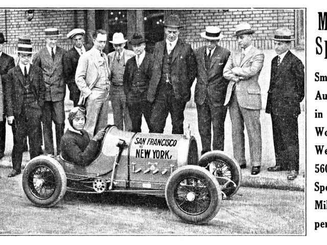 Gus P(r)etzel's 1925 Coast-To-Coast Run