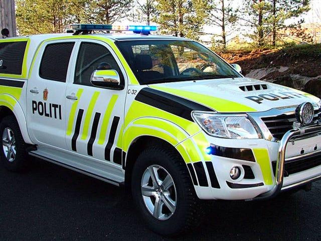 Wir bekommen fantastische Polizisten Autos in Norwegen :)
