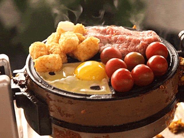 ランダムな食べ物をワッフルアイロンで調理するのがお勧めです。