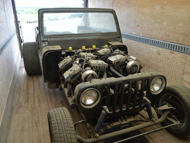Detta är den vildaste Quad-Chopper Powered Jeep Du kommer att se hela veckan