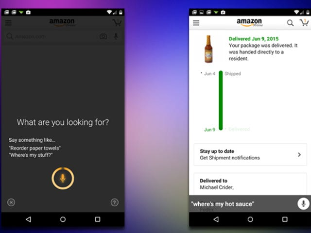 """Amazon for Android Now Supports Voice Commands Like """"Where's My Stuff"""""""