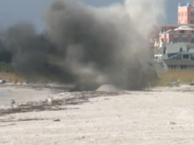 Old WWII Bomb Blown Up After Washing Ashore on a Florida Beach