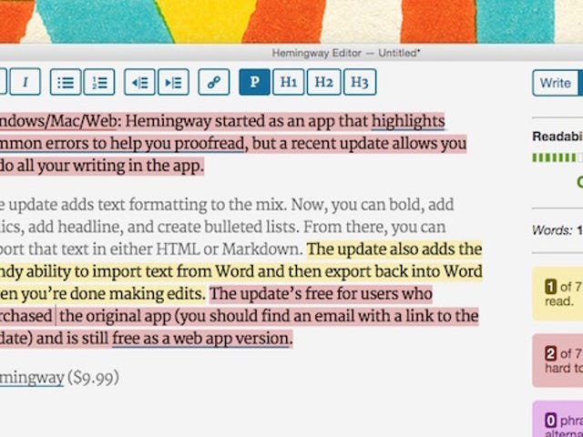 Hemingway Adds Text Formatting Options, Importing, and More