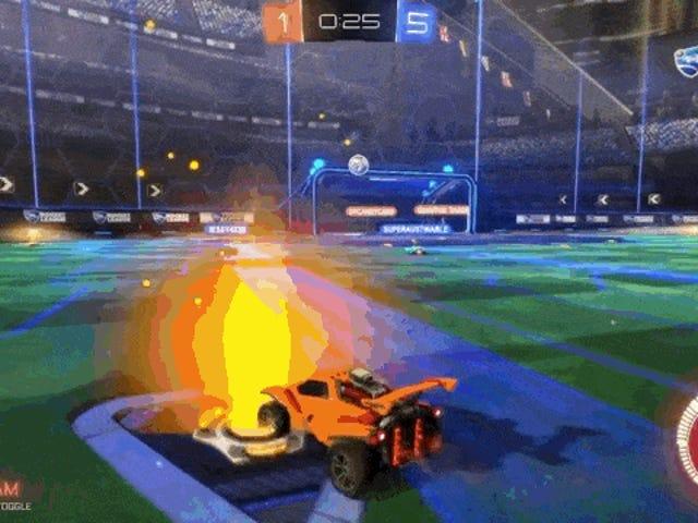Scoring et mål i <i>Rocket League</i> føles så bra
