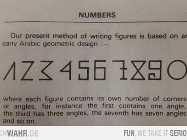 नहीं, यह वायरल इमेज अरबी अंकों के इतिहास को स्पष्ट नहीं करती है