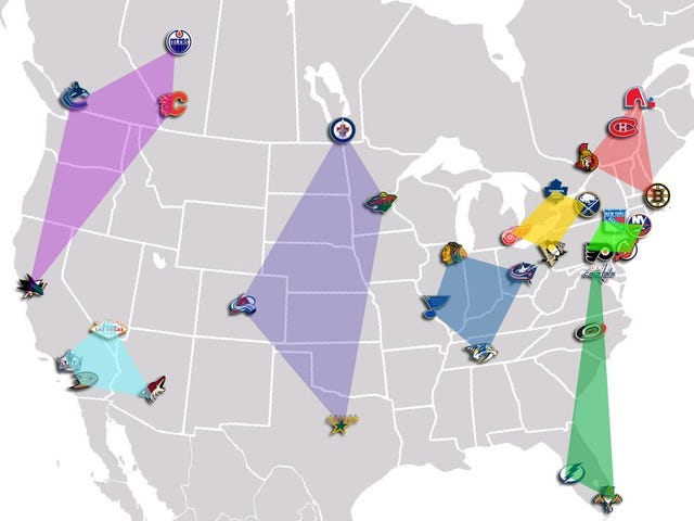 How A 32-Team NHL Might Look