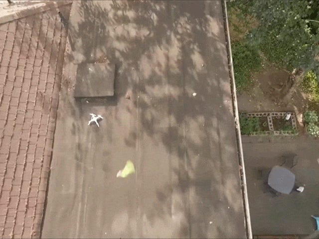 Guy Crashes Drone On Neighbor's Roof, Rescues It With Another Drone