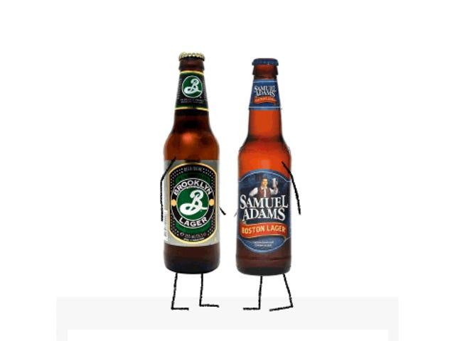 Bier Smackdown!  Samuel Adams Boston Lager Vs.  Brooklyn Lager