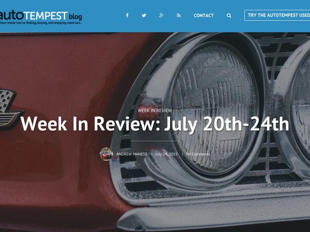 La settimana del blog AutoTempest in corso dal 20 al 24 luglio