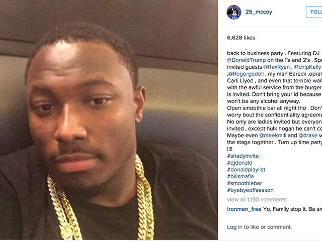 LeSean McCoy's New Party Sounds Fun, Too