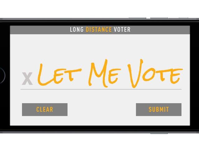 Dit idee om Amerika te laten stemmen door Smartphone werkt misschien